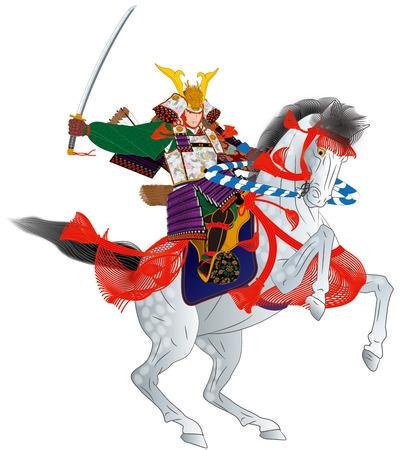 Samurai riding a horse