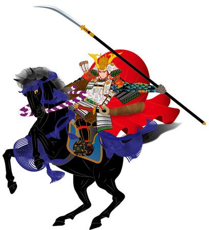 Samurai riding a horseSamurai riding a horse