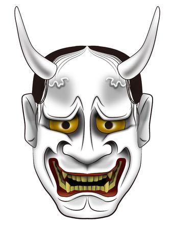 Noh-Maske des Dämon der Japan Weisheit Lizenzfreie Bilder