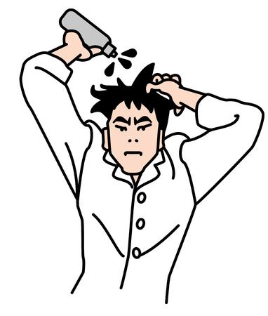 calvitie: Les hommes portent un restaurateur de l'amincissement des cheveux calvitie cheveux Incidences hommes