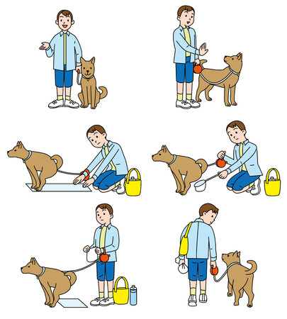 excretion: walk, obedience dog, excretion