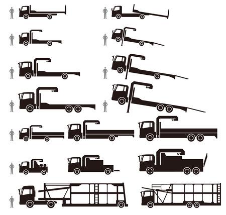 truck crane: Vehicle loading car Illustration