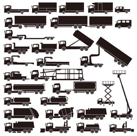 camion de basura: Camiones de trabajo