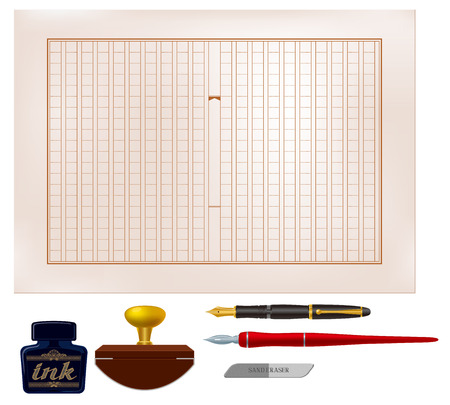 note pad and pen: Writing instruments and writing paper