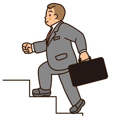 staircases: Health management  Men climb the stairs