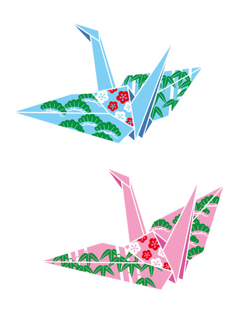 japanese culture: Paper cranes, origami, Japanese culture Stock Photo