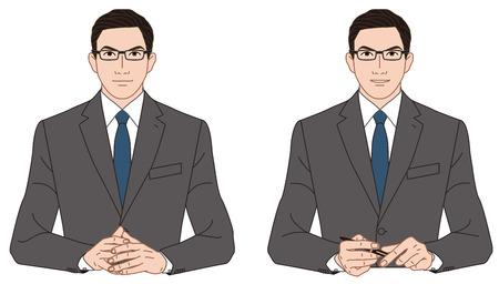 persuasion: Businessman, conversation Stock Photo