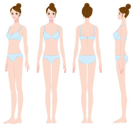 Woman of slim proportions  Oriental
