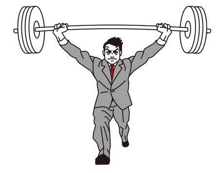 over burdened: Weightlifting  Power  Support  Endure  Businessman  Stock Photo