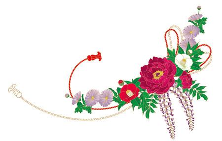 Japan style  Flowers  Pattern of the kimono  photo