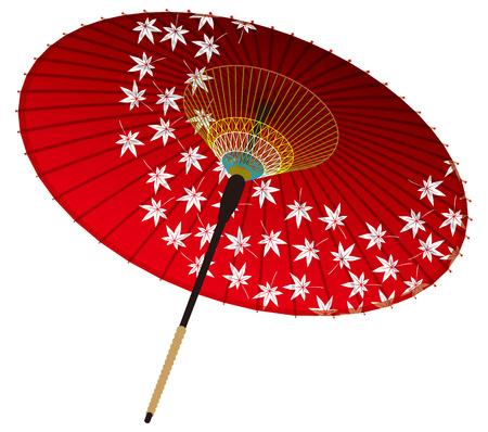 Japanese umbrella, maple 向量圖像