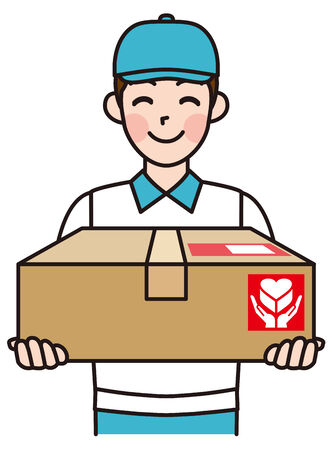Delivered products Home delivery Delivery man