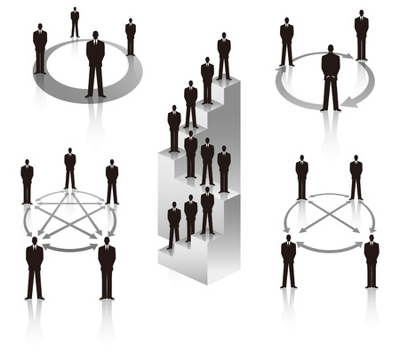 ビジネスマンの通信  イラスト・ベクター素材