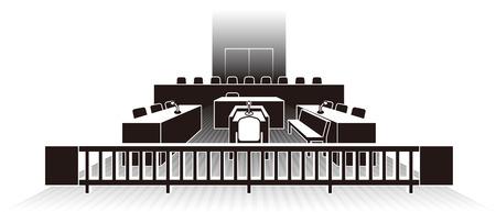 Court  Japan Illustration