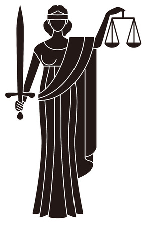 Symbol of justice  Goddess of justice  Themis Vector