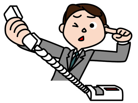 unilateral: Businessman to receive a phone call of complaint