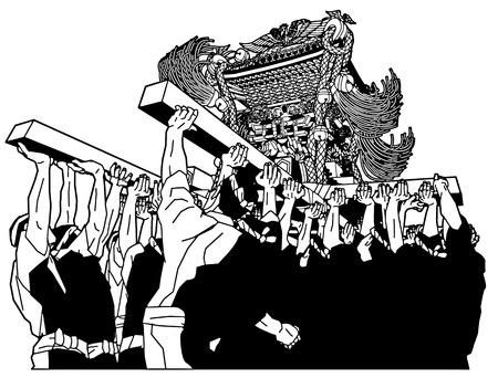 Portable shrine, festival of Japan Banque d'images