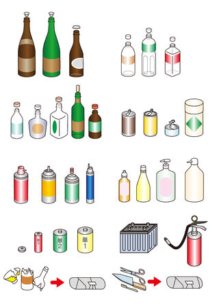 Garbage  Recycling  Resources  Fractionated  Japanese style photo