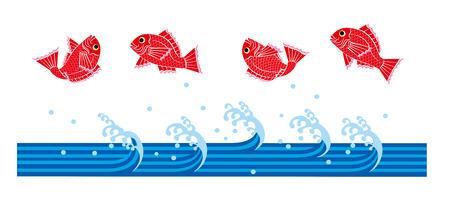 sea bream: Sea bream, wave Stock Photo