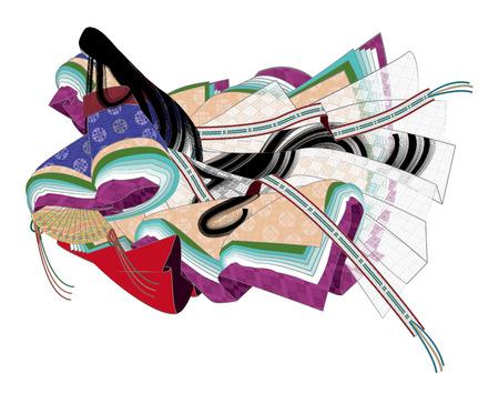 Zwölf Schicht feierlichen Kimono Nationaltracht von Japan Kimono
