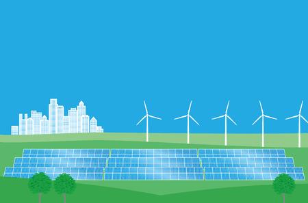 Energia pulita di energia eolica e solare