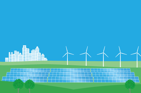 energia eolica: La energ�a limpia de la energ�a e�lica y la energ�a solar