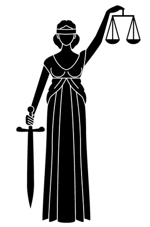Symbol of justice  Goddess of justice Vector