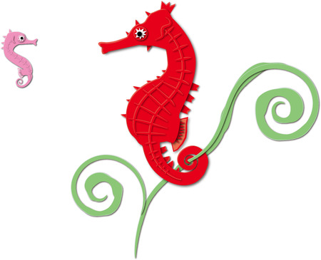 sea horse: Parent and child of the sea horse
