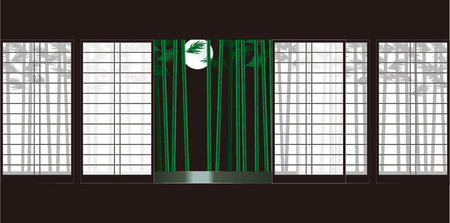 front porch: Moon Shoji, and bamboo  Japanese-style room