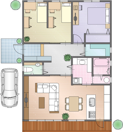 placement: Home Placement of furniture Illustration