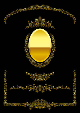 continental: Mirror frame and gold