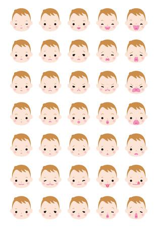 reconciliation: Expression variation of boy