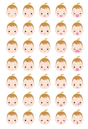 variation: Expression variation of girl