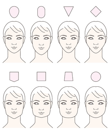 trapezoid: Women  's. Face shape
