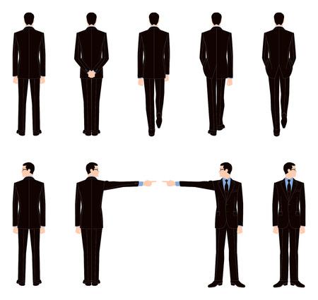 ビジネスマンの背面図
