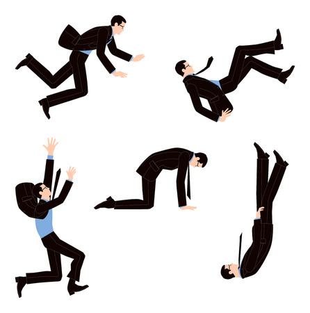 hombre cayendo: Empresario de tropiezo y la desesperación