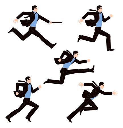 Geschäftsmann zu laufen Illustration