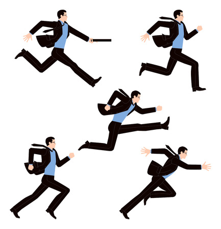 staffel: Geschäftsmann zu laufen Illustration