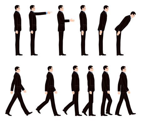 hombres ejecutivos: Caminar, inclinarse, hombre de negocios