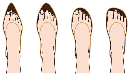 Shoes of shape and feet