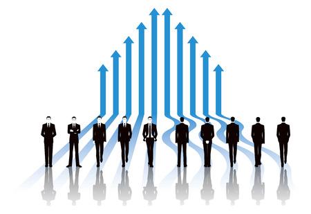 business image: Business image of businessman with arrow