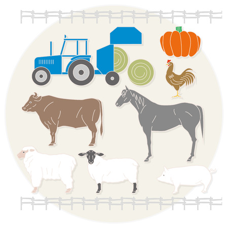 ranch: Ranch and tractor