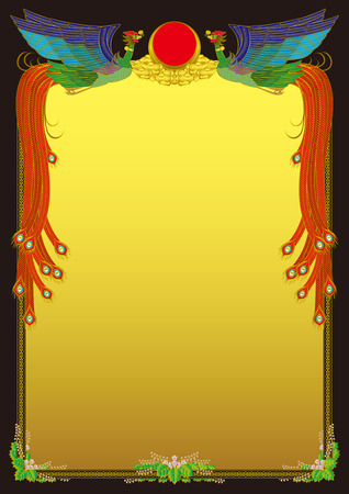 chinese frame: Frame of the Chinese phoenix
