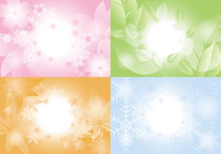 Lente, Zomer, Herfst, Winter .background