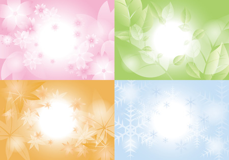 Spring, Summer, Fall, Winter .background Vectores
