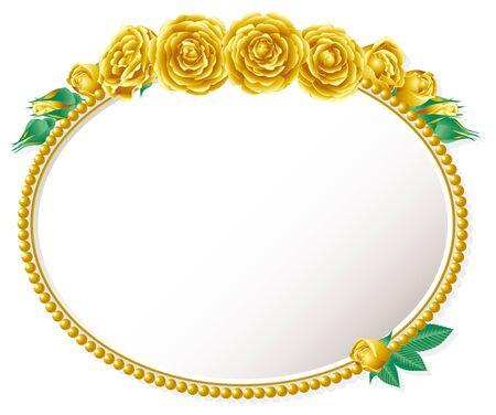 elliptic: Gold rose and elliptic frame