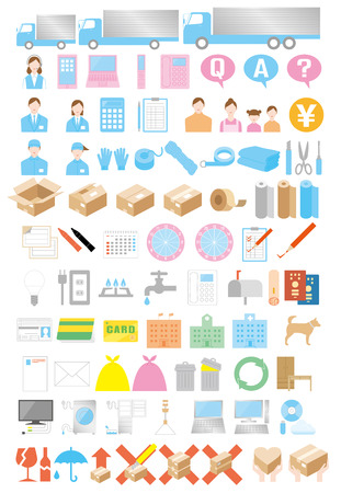 Preparation of house moving Vector
