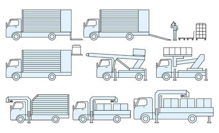 移動トラック、輸送貨物の種類 写真素材 - 39250845