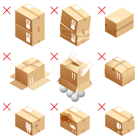 strictly: Cardboard box packing note
