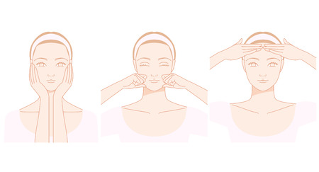 anti aging: Women who massage the face
